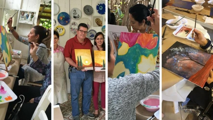 "Taller de pintura ""Pinceles y vino"" en Saúl L'Ostería   Marzo 2017"