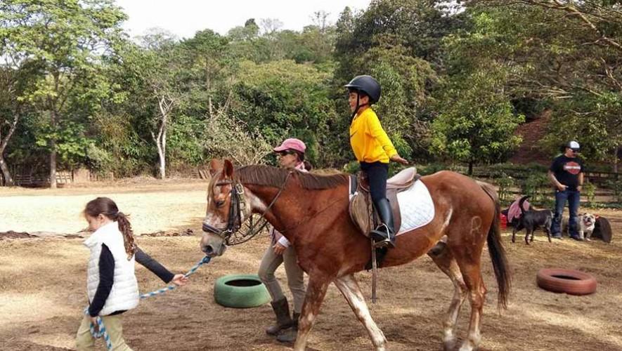 Equinoterapia en Guatemala, actividades interactivas con caballos para niños y adultos