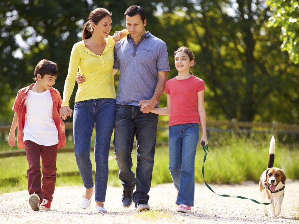 Familia Caminando