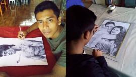 Rudy Niz, el guatemalteco que hace impresionantes dibujos con lapicero