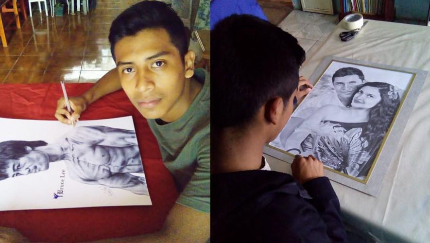 Rudy Niz es un experto en los dibujos con lapiceros de colores. (Fotos: Rudy Niz)