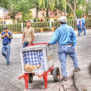 Helados de carreta en Guatemala