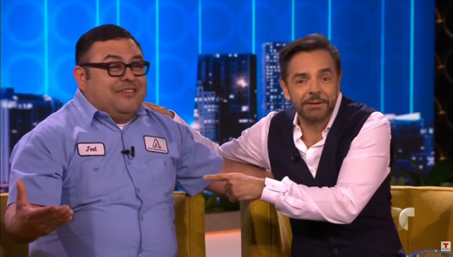 Joel Villagrán, inmigrante guatemalteco le da una sorpresa a Eugenio Derbez