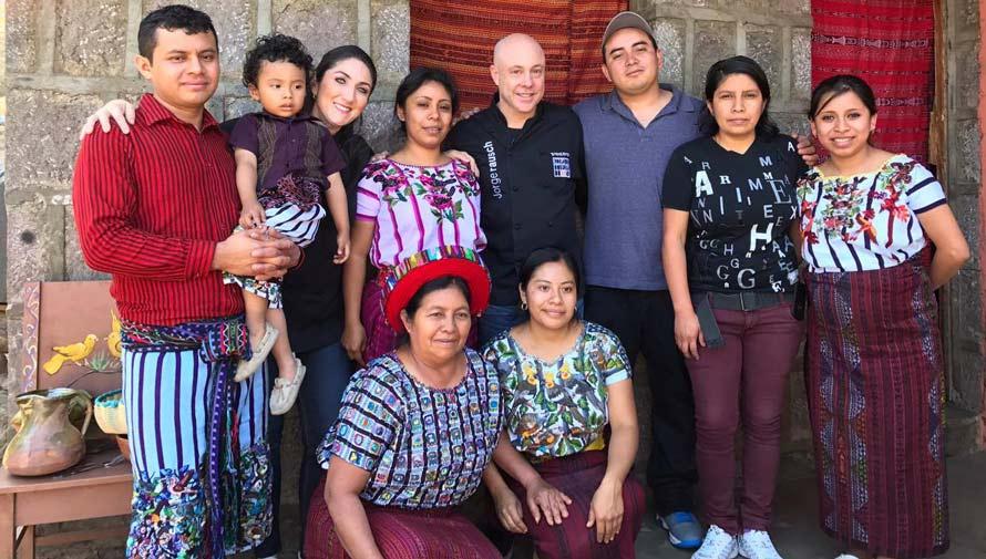 Jorge Rausch de Master Chef se encuentra en Guatemala