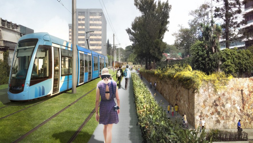 El metro riel buscaría reducir el tráfico en Guatemala. (Foto: Anadie)
