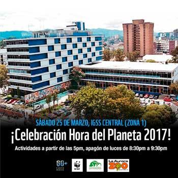 Únete a la Hora del Planeta en la Ciudad de Guatemala 2017