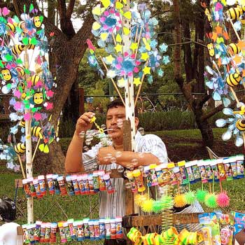 Vendedor de burbujas Guatemala