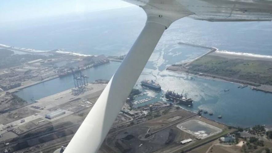 Viaje en avioneta sobre el Puerto de San José en Semana Santa | Abril 2017