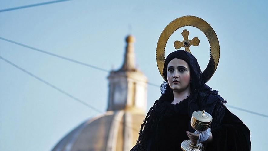 Procesión de la Virgen de Soledad en la Ciudad de Guatemala| Semana Santa 2017