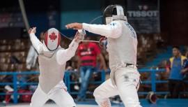 Ángel viene de participar en el Panamericano en Cuba, donde se ubicó en el puesto 24. (Foto: Canadian Fencing Federation)