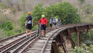 Paseo en bicicleta por las vías férreas de Chiquimula   Marzo 2017