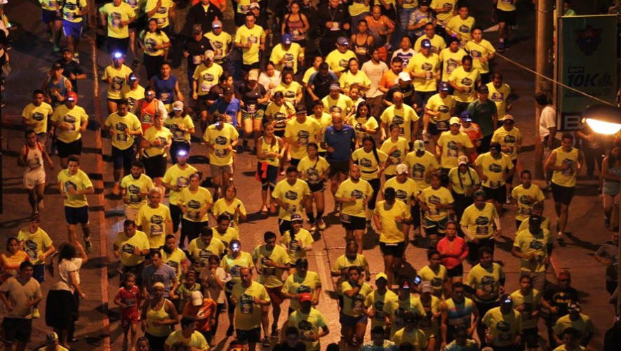 La carrera 10K nocturna contará con la participación de más de 10,000 corredores. (Foto: 10K de Ciudad de Guatemala)