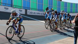 La prueba de keirin fue la más emocionante en la primera parada de ciclismo de pista. (Foto: FGC)