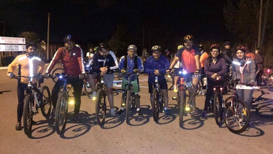 Colazo nocturno en bicicleta en El Naranjo | Marzo 2017