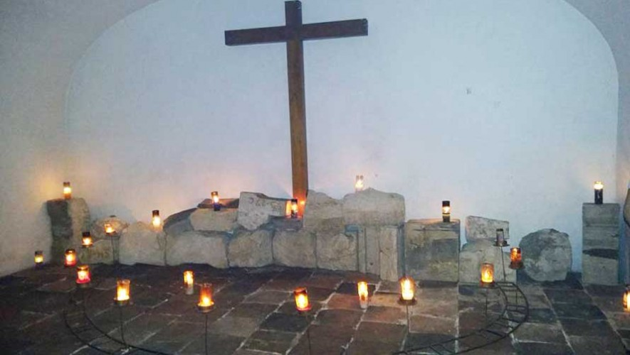 criptas de la Catedral Metropolitana de Guatemala en abril 2017