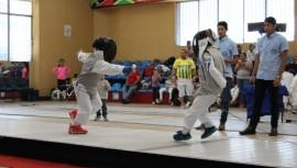 Los mejores exponentes infantiles del esgrima guatemalteco participaron en su primera competencia del año. (Foto: Federación Nacional de Esgrima)