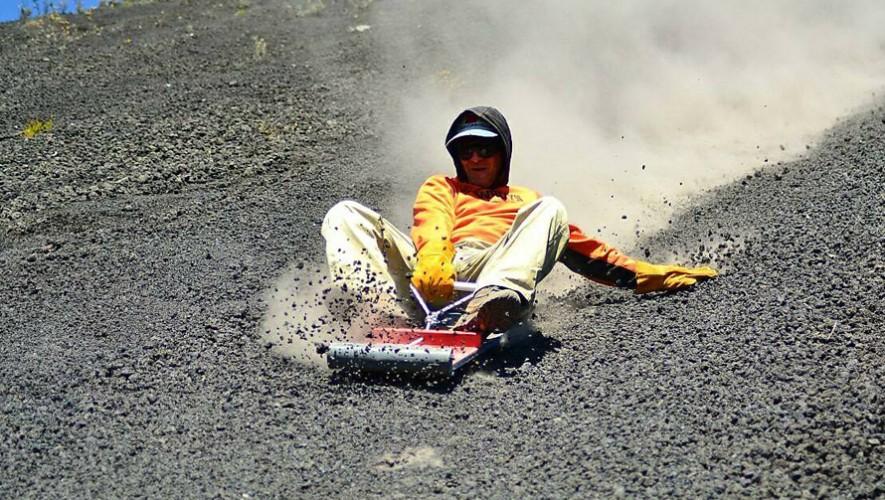 Sandboard en el Volcán de Pacaya, Escuintla   Abril 2017