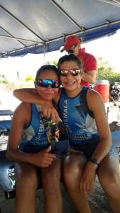 Spiegeler y López. (Foto: triatlon.gt)