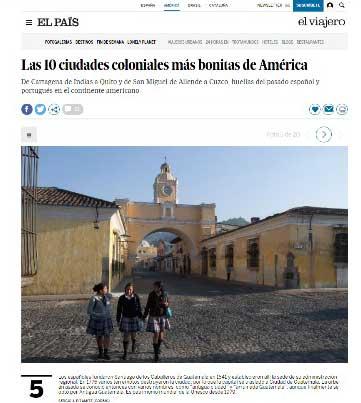 Antigua Guatemala entre las 10 ciudades más bonitas de América 2017