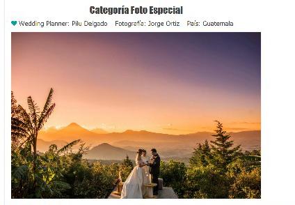 Guatemala gana concurso de las mejores bodas del mundo