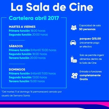 Horarios y películas de La Sala de Cine del Centro Cultural Miguel Ángel Asturias 2017