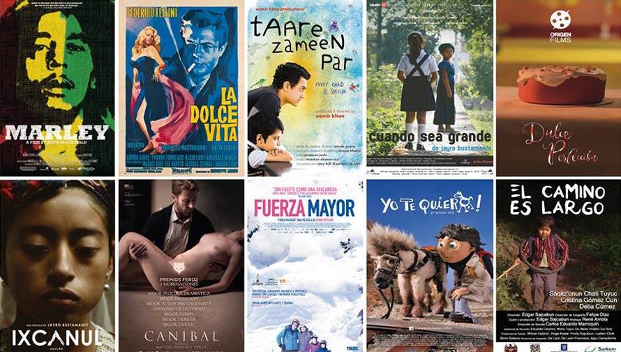Horarios y películas en abril 2017, Sala de Cine del Centro Cultural Miguel Ángel Asturias