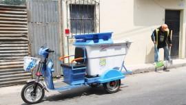 Nuevas motos eléctricas recolectoras de basura en Santa Catarina Pínula 2017