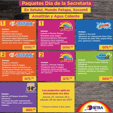 Paquetes en el Irta en Guatemala