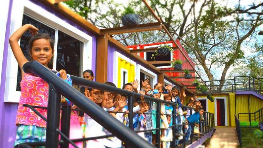Primera escuela de Guatemala con contenedores