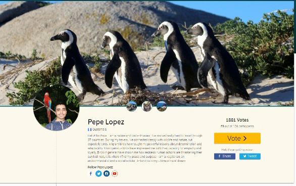 Vota por el guatemalteco ambientalista Pepe López