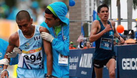 Rivero y García finalizaron entre los 20 mejores corredores de la Maratón de Rotterdam. (Foto: Orlando Kissner/Miami Marathon & Half Marathon)