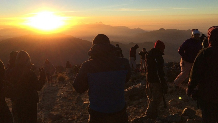 Ascenso al volcán Tajumulco por Ruta Turística y Sur   Abril 2017