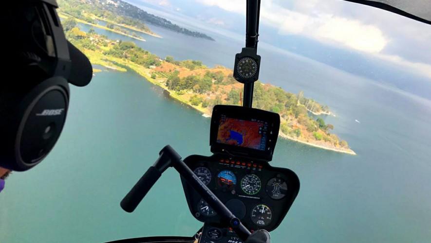 Viaje en helicóptero en Lago de Atitlán | Semana Santa 2017