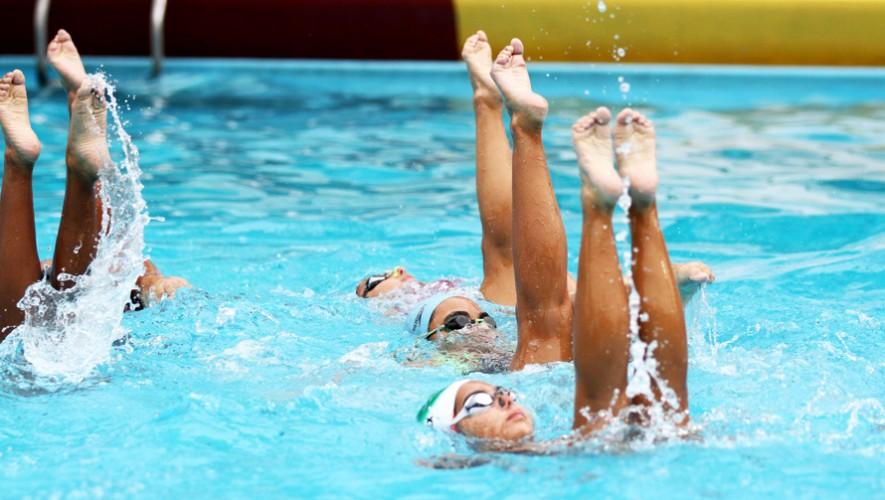 4 deportes acuáticos serán los primeros en participar en este Festival Deportivo, entre ellos el nado sincronizado. (Foto: COGuatemalteco)