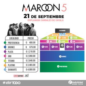 Precios Maroon 5