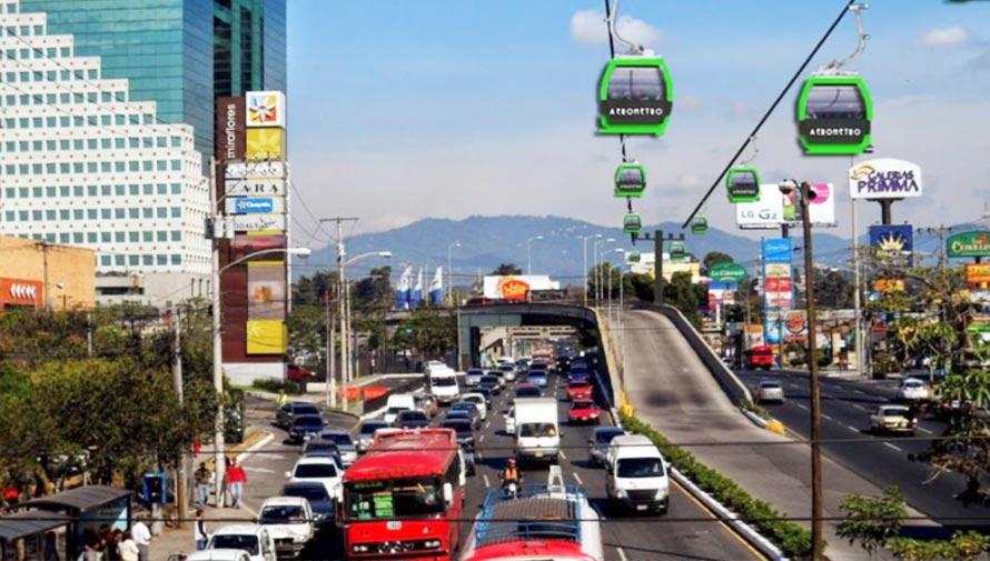 Aerometro en Guatemala, el nuevo transporte público entre Mixco y la Ciudad