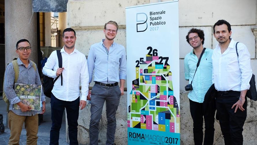 Arquitectos guatemaltecos ganan el primer lugar en la Biennale Spazio Pubblico, Roma 2017
