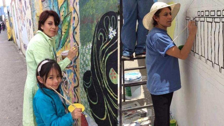 Buscan recolectar materiales para pintar un mural cultural en Quetzaltenango