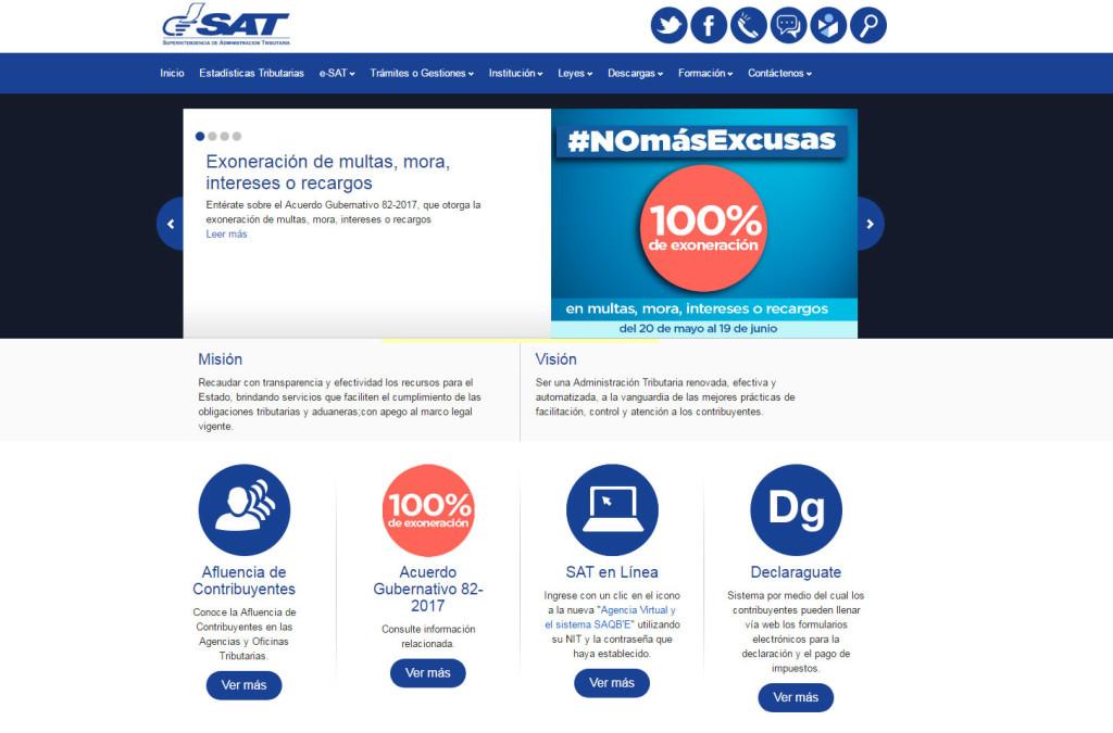 Exoneración de multas en la SAT