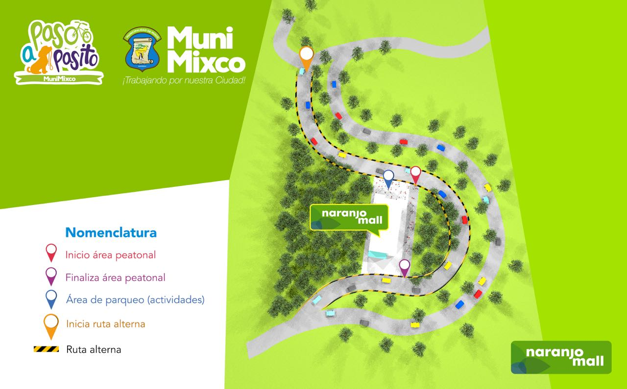 Paso a pasito espacio recreativo en Mixco, Guatemala