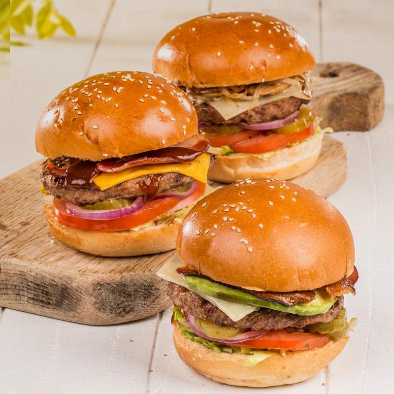 Promoción de la hamburguesas en Guatemala