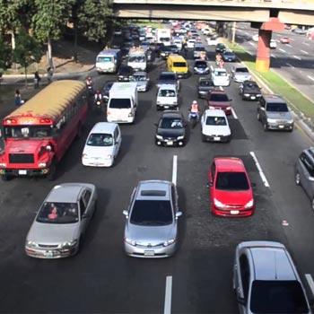 Tráfico en la Ciudad de Guatemala