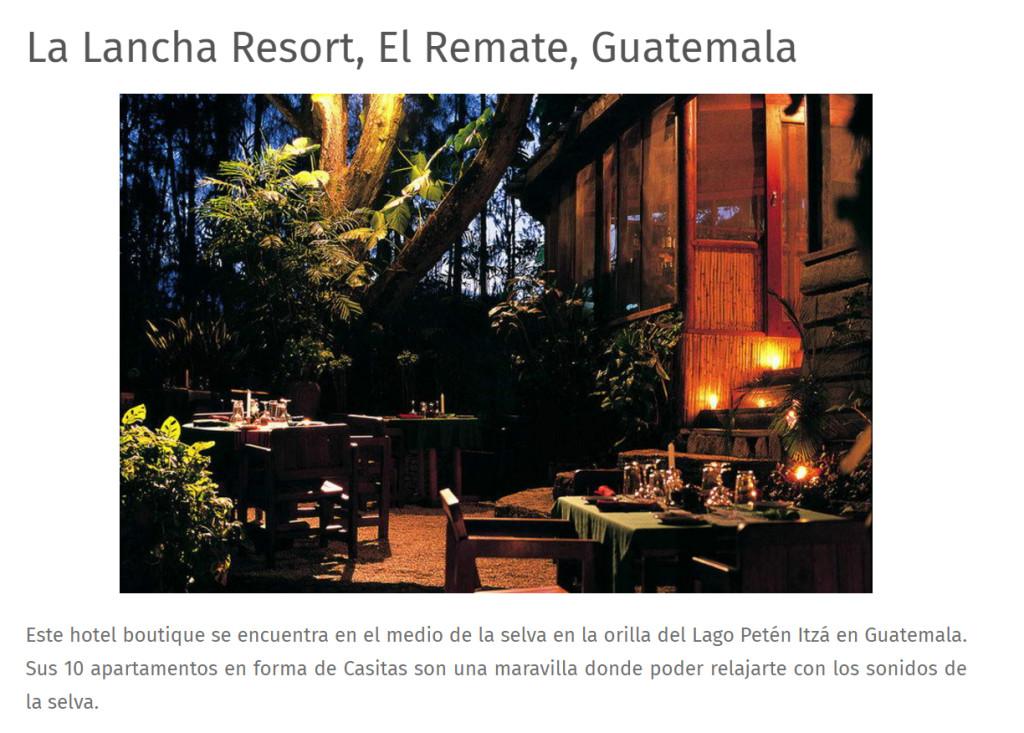 Uno de los mejores hoteles de Guatemala