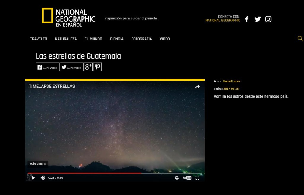 Video del guatemalteco Haniel López destaca en National Geographic