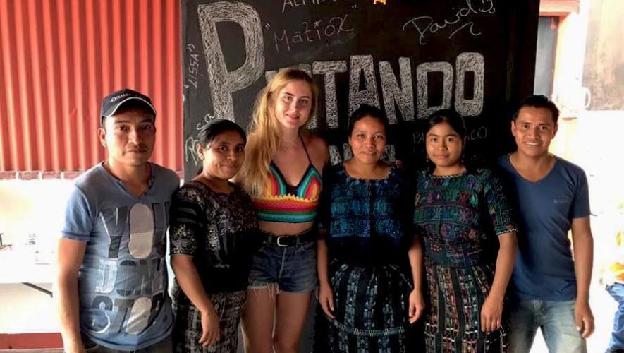 Visita de Valentina Ferragni, blogger italiana, a Guatemala