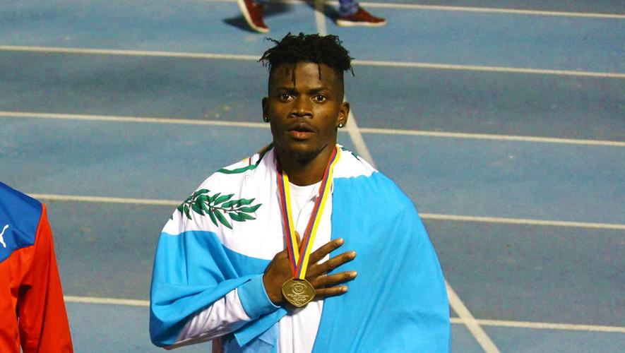 Gerber Blanco es el único velocista guatemalteco que se encuentra en el primer lugar de su prueba. (Foto: Titanes Medellín)