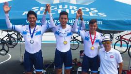 El equipo nacional de ciclismo de pista logró adjudicarse el primer lugar del medallero al ganar 16 preseas en total. (Foto: FGC)