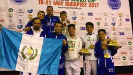 Medallas ganadas por Guatemala en Copa Mundial de Kickboxing 2017