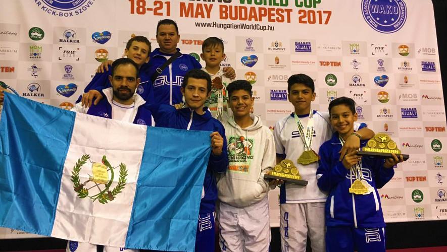 Guatemala obtuvo 3 oros, 2 platas y 5 bronces durante su participación en Hungría. (Foto: Wako Guatemala)