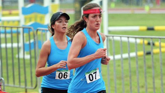 Las dos pentatlistas finalizaron su participación en la fase de clasificación. (Foto: COGuatemalteco)